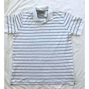 Big and Tall White Striped Polo Shirt Size XXLT